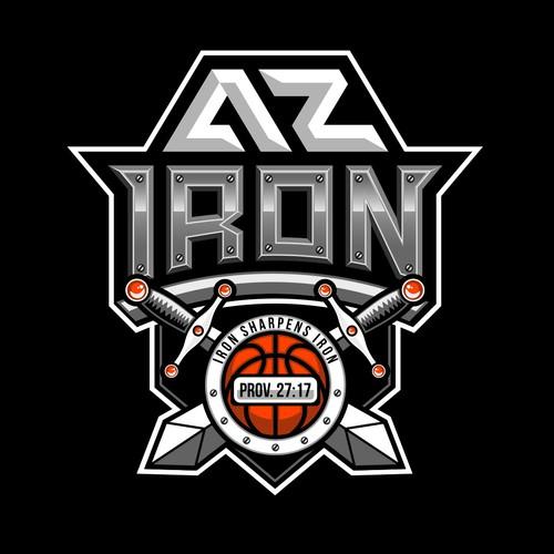 Basketball sports logo.