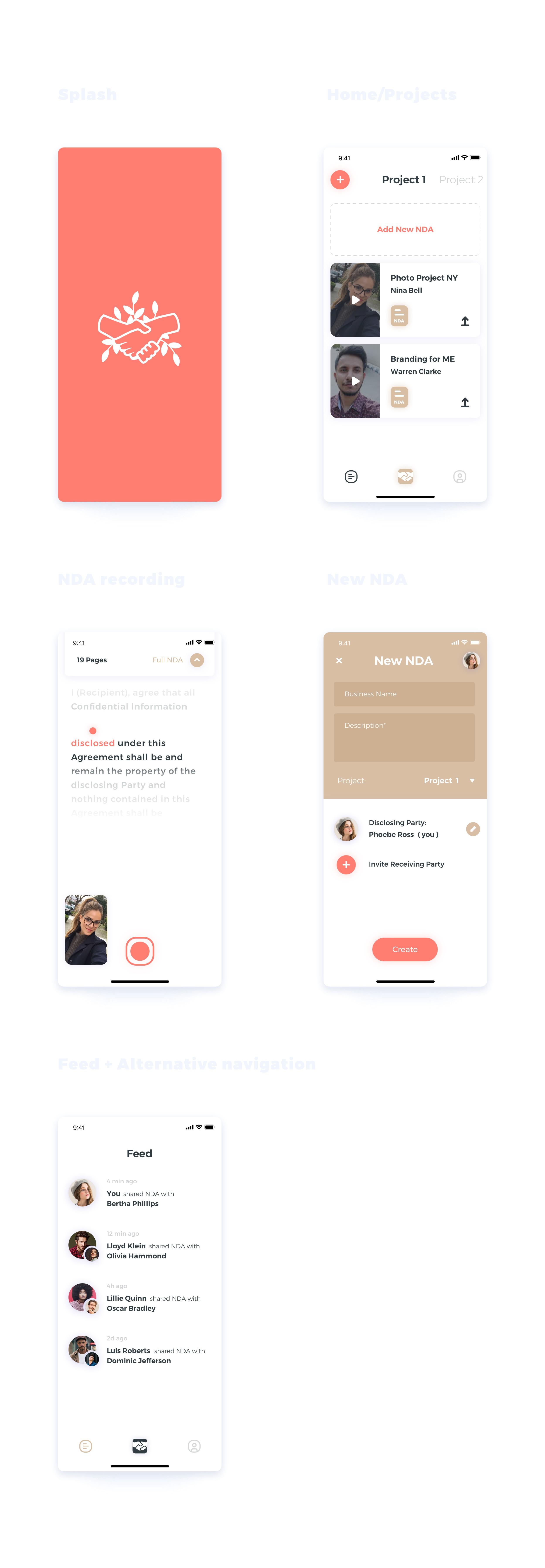 three page app