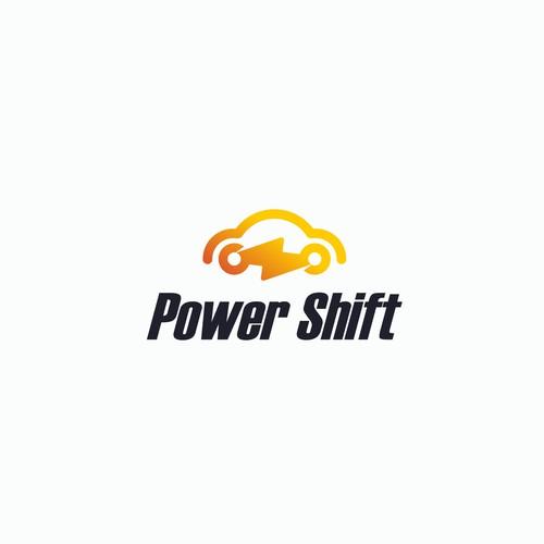Electric Car logo concept