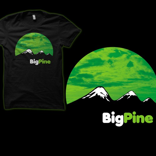 "Cool product launch t-shirt design for ""Big Pine"""