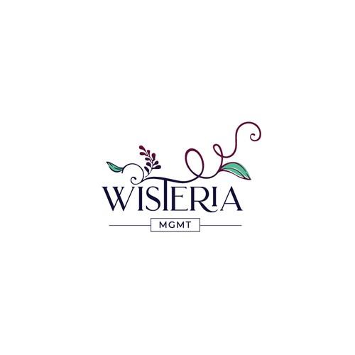 Wisteria Mgmt Logo Design