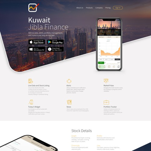 Homepage Redesign for Jibla Finance