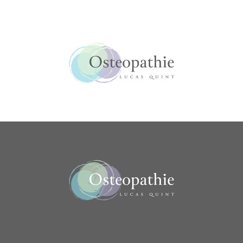 Moder and abstract Logo for Osteopath Lucas Quint