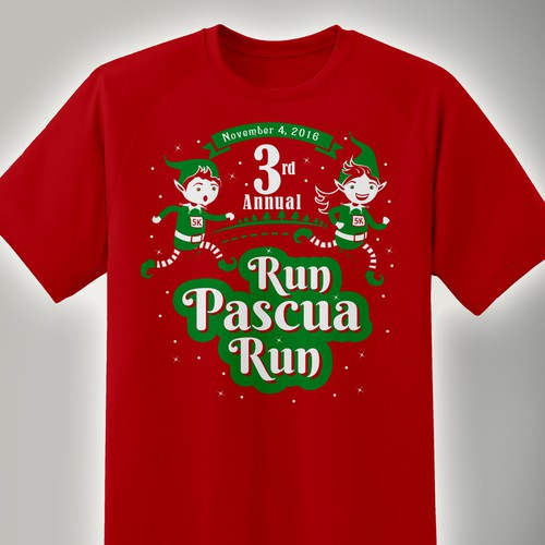 T-Shirt for the participation of a family team for a race