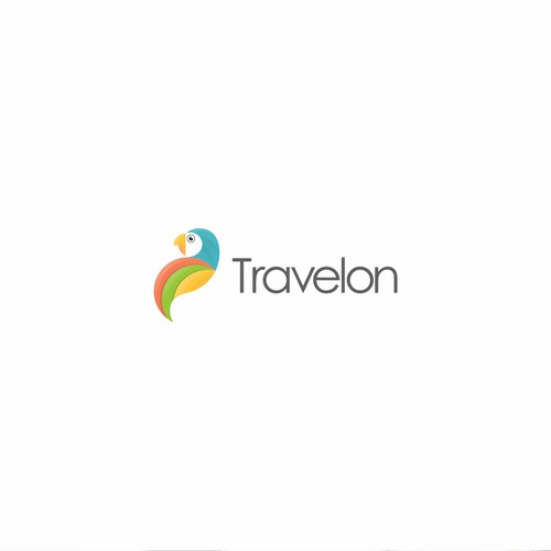 parrot logo for travel business