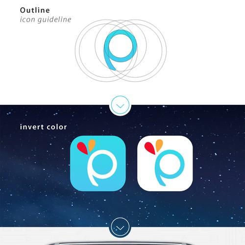 Icon logo for PicsArt