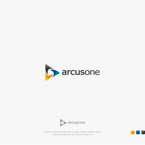 """Create a logo and card that is cool, trendy, playful and is """"forward-looking"""" for a technology co."""