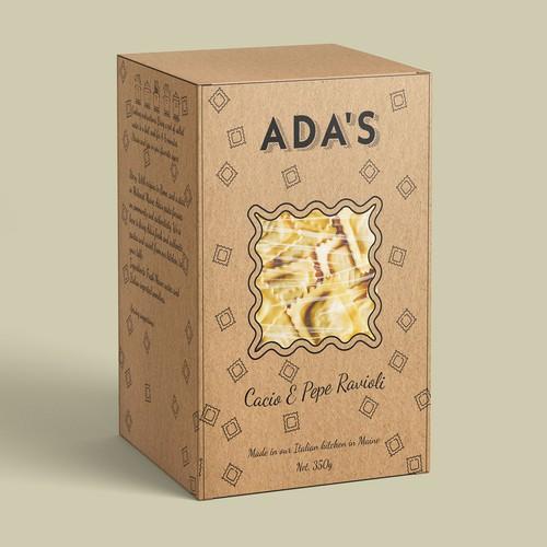 Pasta box design /ravioli