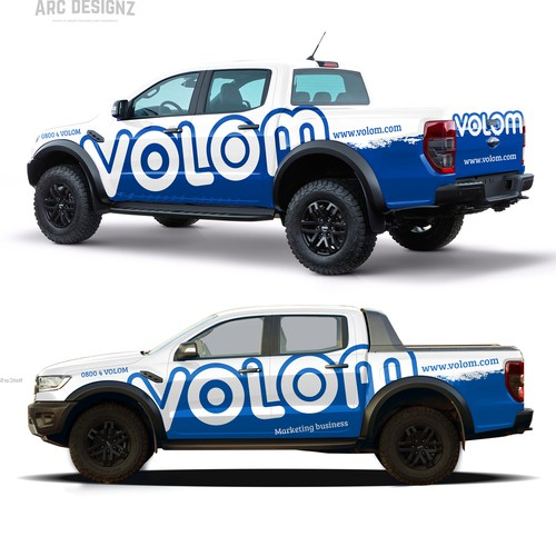 Ford raptor wrap for volom