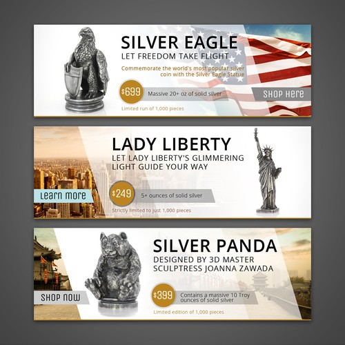 Runner-Up entry – banners for collectibles homepage