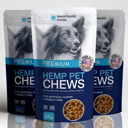 Pet Treat CBD Chew Packaging Design!