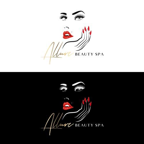 Allure Beauty Spa_Logo sleek, modern & sexy
