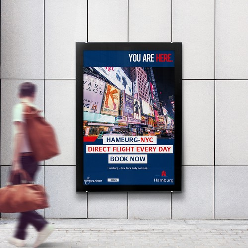 CONTEMPORARY, COOL AND MODERN TRAVEL POSTER LEADING INTERNATIONAL AIRPORT