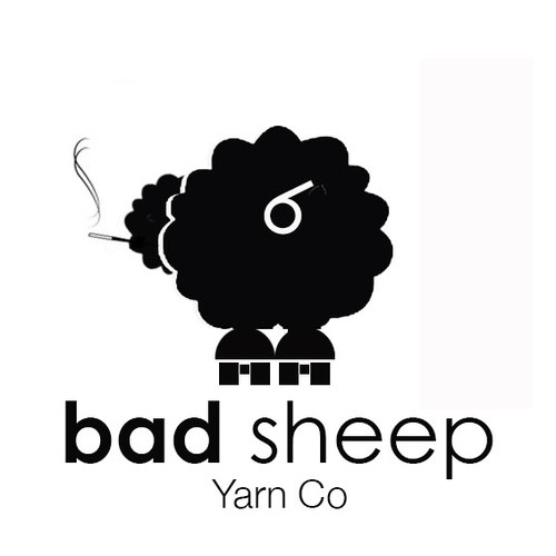 "Create a new logo for ""Bad Sheep Yarn Co."""