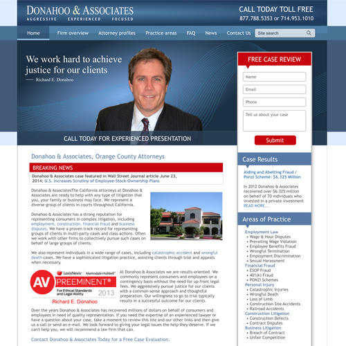 Law Firm domain consolidation and professional redesign
