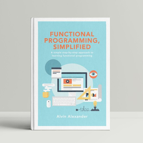 Modern book design for a technology textbook