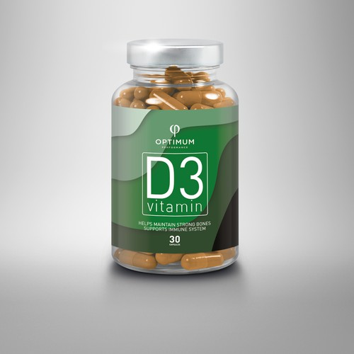 Label concept for Vitamin D3