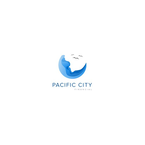 Logo concept for pacific finance