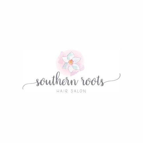 Hair Salon Logo with Southern Roots
