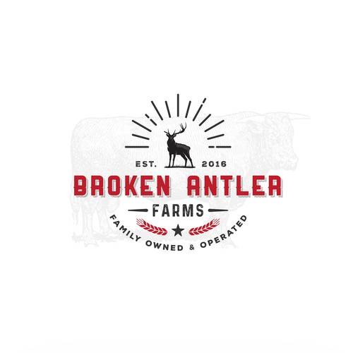 Logo concept for family owned cattle farm
