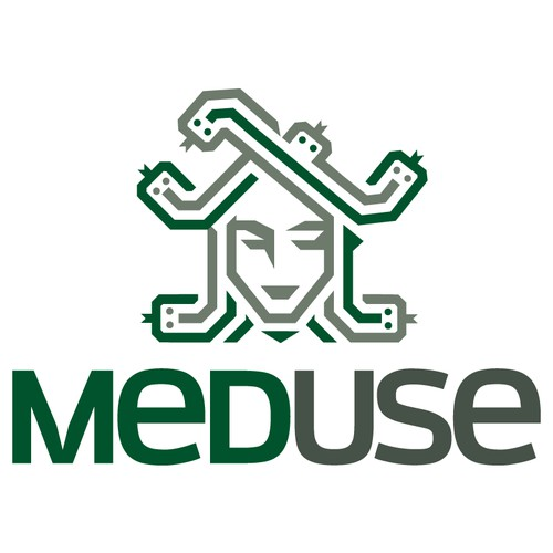 Logo for health software development company: MedUse