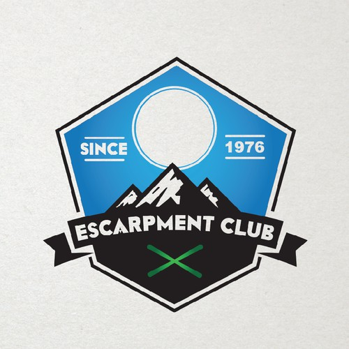 Creating a logo for an Adult Outdoor Sport Club, retro look, clean and cool.