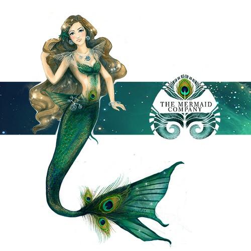 Magical mermaid design