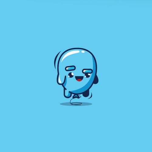 Cute baloon mascot
