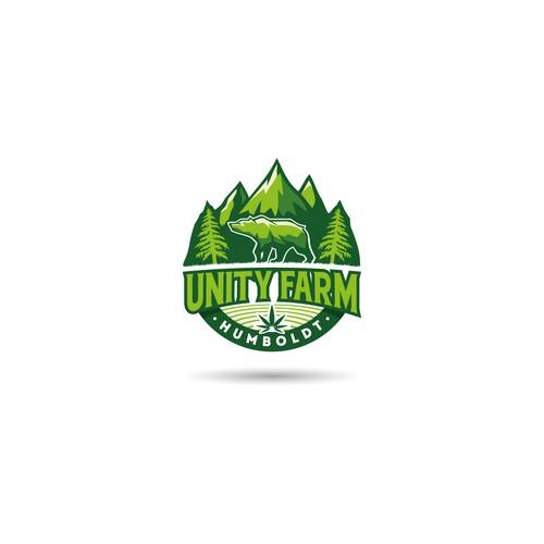 Conceito de logo para Unity Farm Humboldt