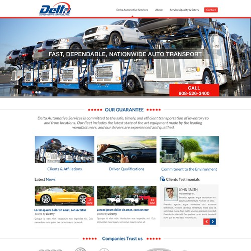 Delta website design