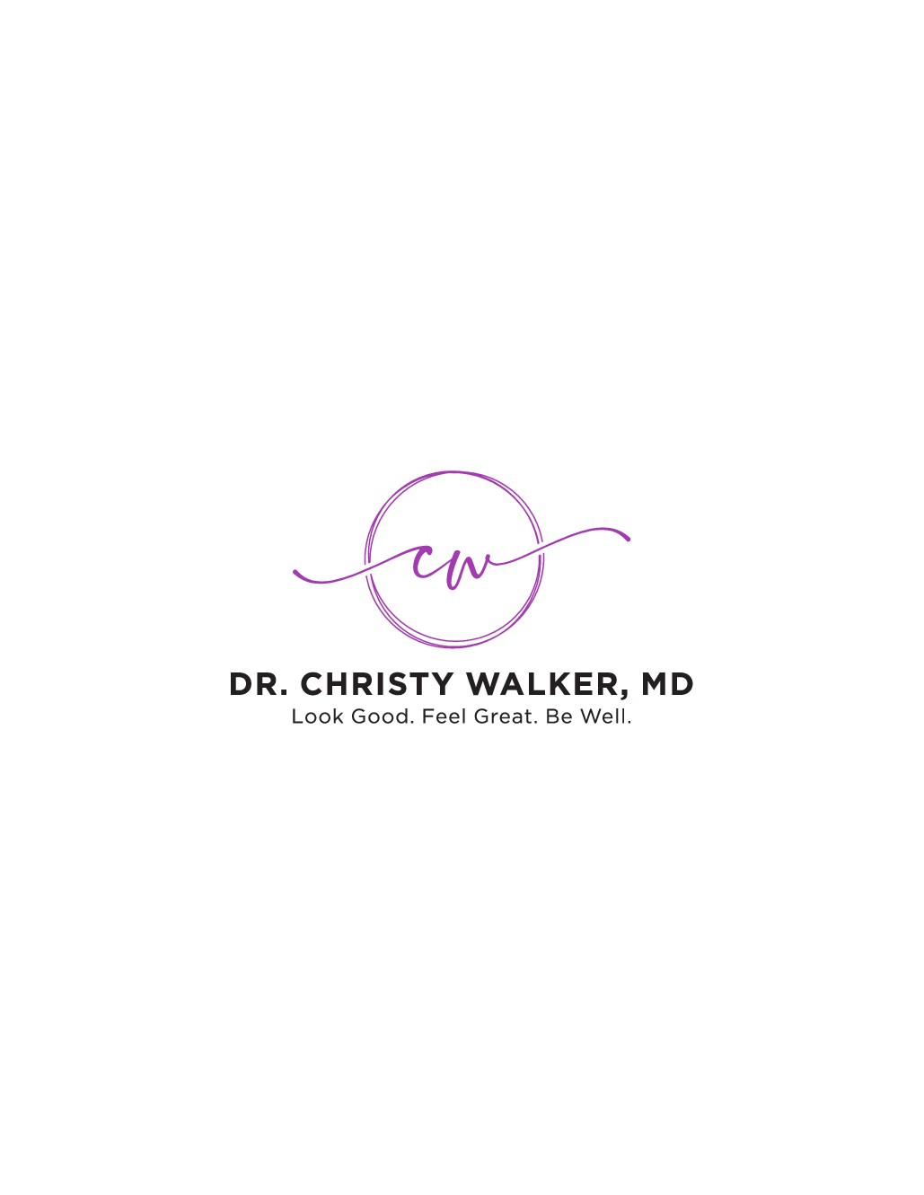 Clean and contemporary logo for a luxury women's health and cosmetic surgery center