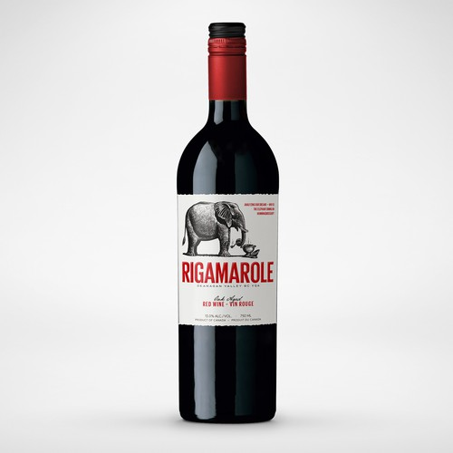 Rigamarole Wine label redesign