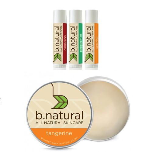 Organic and contemporary skin care logo.