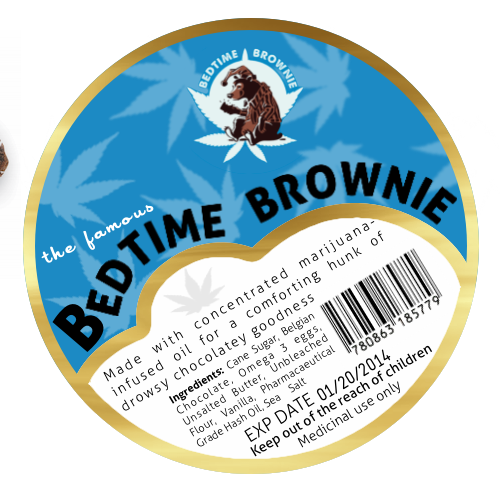 Simple Sticker label for food product.