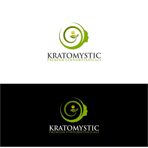 Create a botanical logo for Kratomystic