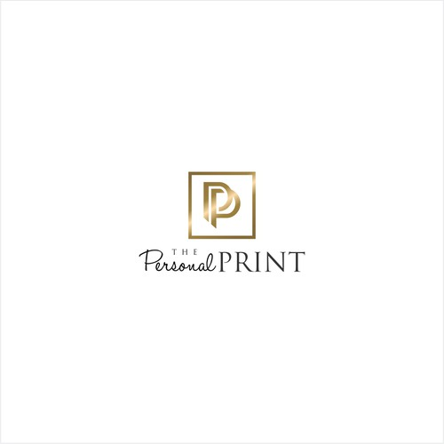 Luxurious logo design for The Personal Print