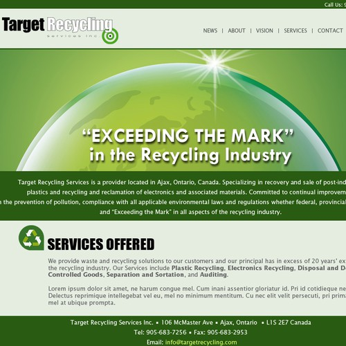 Revamping Recycling Companies Website!