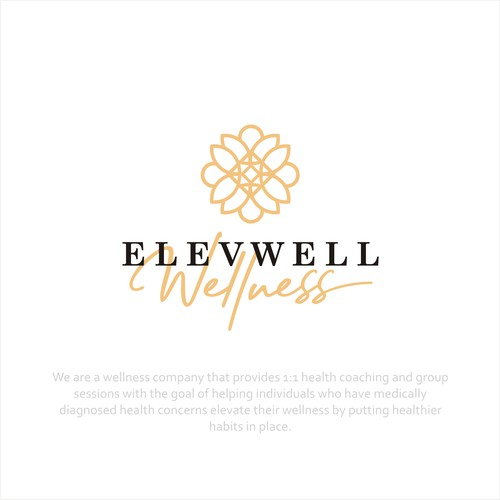 Design a clean modern logo for a wellness company