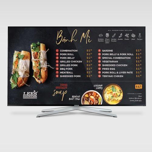 Menu design for Banh Mi Shop