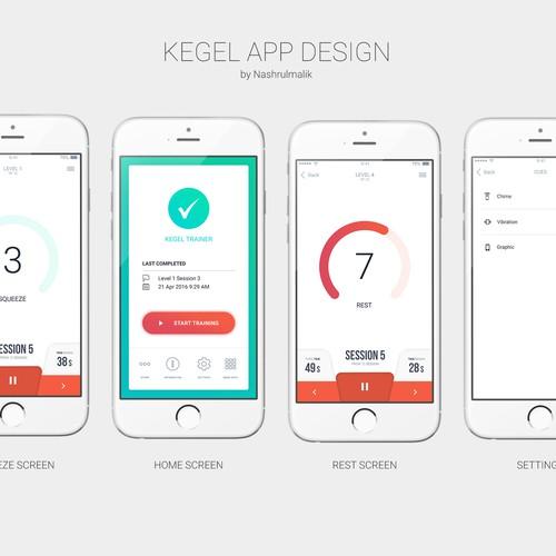 Modern Kegel App Design