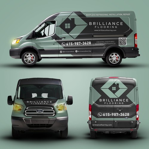 Brilliance Flooring car wrap