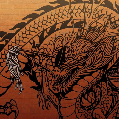 Create a BIG new dragon artwork (traditional tattoo style) for Fukuryu Ramen!