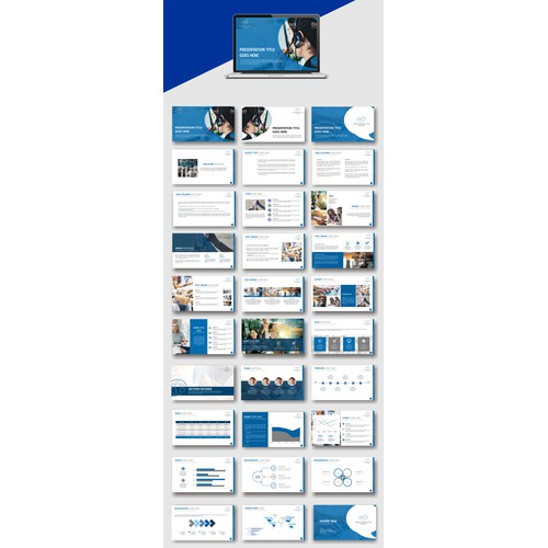 Power point concept for blue theme