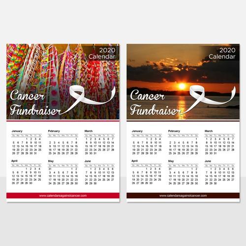 Calendar Card Design for Cancer Fundraiser
