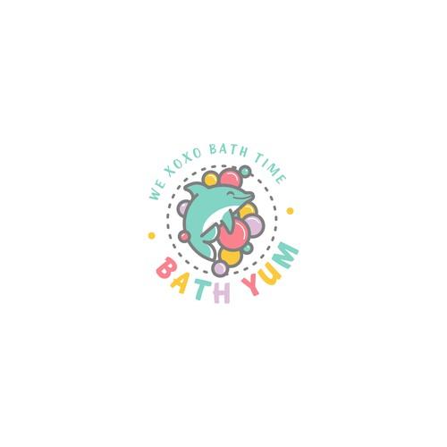 Fun logo for children bath-product