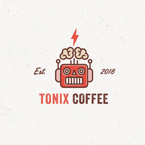 Fun + creative logo for a coffee brand