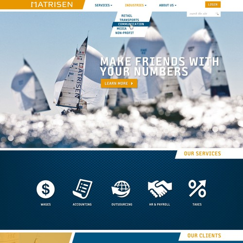 New web design for big accounting firm