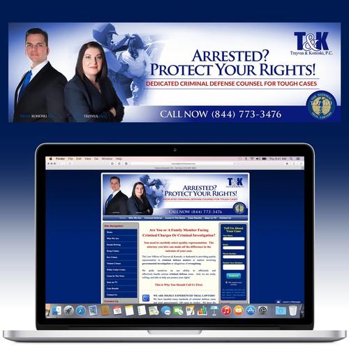 Website Header for Criminal Defense Lawyer