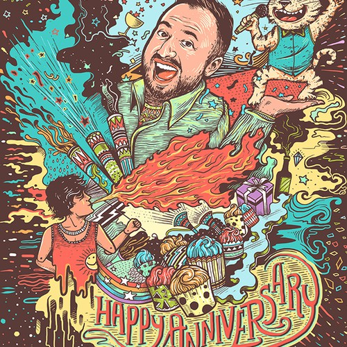 Illustration for anniversary celebration!