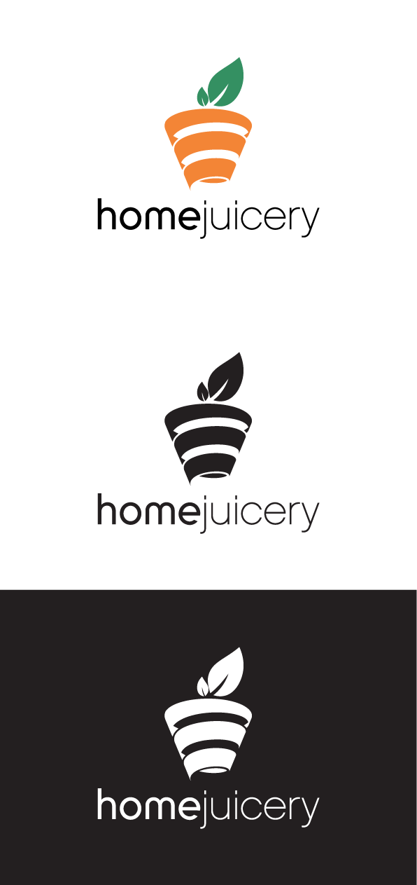 Simple juicy logo for Home Juicery - Juice/Smoothies made at home